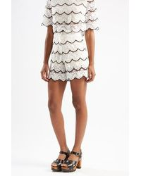 TOPSHOP - Lace Falcon Wings Shorts By Sister Jane - Lyst