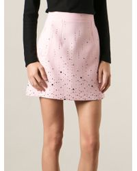Christopher Kane Embellished Mini Skirt - Lyst
