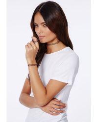 Missguided Eunice 3pack Elasticated Jewellery Set Black - Lyst