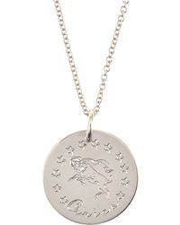 Emily & Ashley - Sterling Silver Astrology Charm Necklace - Lyst