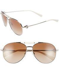Michael Kors 58Mm Aviator Sunglasses - Lyst