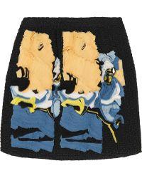 Michael van der Ham - Appliquéd Bouclé Mini Skirt - Lyst