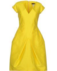 DSquared2 Yellow Short Dress - Lyst