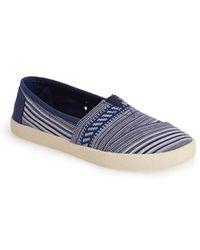 TOMS 'Avalon' Woven Slip-On Sneaker - Lyst