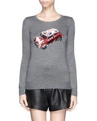 Markus Lupfer British Mini Car Sequin Emma Sweater - Lyst