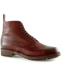 Sunspel - Men's X Cheaney Leather Boot - Lyst