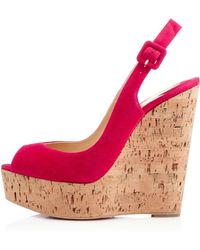 Christian Louboutin Une Plume Sling - Lyst