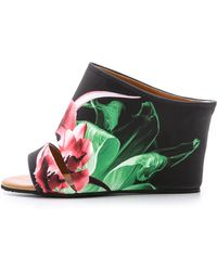 Clover Canyon - Silent Flower Black Wedge Mules - Multi - Lyst
