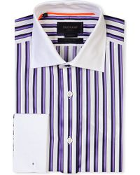 Duchamp Tailored-fit Striped Cotton Shirt - Lyst