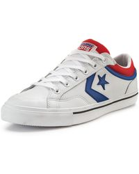 Converse Pro Blaze Leather Ox Trainers White Blue Red - Lyst