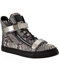 Giuseppe Zanotti Double Bangle Python High Top Sneaker - Lyst