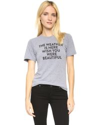 Barber - Weather Tee - Grey - Lyst