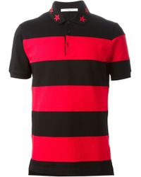 Givenchy Striped Polo Shirt - Lyst