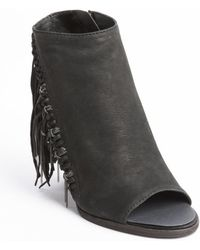 Dolce Vita Black Leather Tassel and Chain Detail Noralee Heel Booties - Lyst