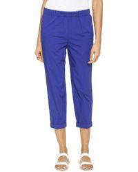 Giada Forte Poplin Pull On Pants - Bluette - Lyst