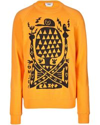 Marc Jacobs Orange Cottonlinen Sweatshirt - Lyst