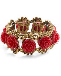 Ana Accessories Inc - Retro Rosie Bracelet In Red - Lyst