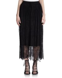 The Kooples Pleated Lace Skirt - Lyst
