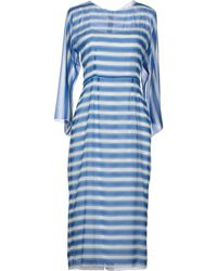 Dolce & Gabbana Blue Knee-length Dress - Lyst