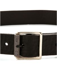 Rag & Bone Textured Buckle Belt  Almond - Lyst