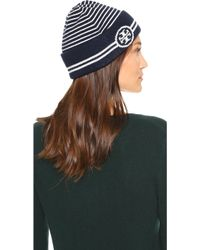 Tory Burch - Striped Hat - Lyst