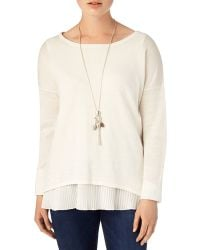 Phase Eight - Claudia Pleat Knit Top - Lyst