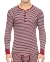 2xist - 2(x)ist Striped Long Sleeve Slim Fit Henley - Lyst