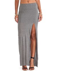 Bella Luxx Gray Column Skirt - Lyst