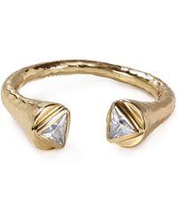 Melinda Maria - Nailhead Triangle Ring - Lyst