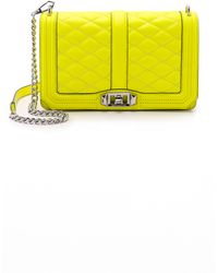 Rebecca Minkoff Love Cross Body Bag - Electric Pink yellow - Lyst