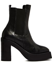 Yang Li - Womens Python Effect Leather Boots - Lyst