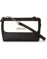 Kenneth Cole Reaction Black & White Contemporary Chain Mini Crossbody - Lyst