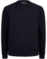 Giorgio Armani 3d Houndstooth Textured Sweater - Lyst