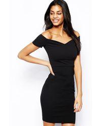 Tfnc Bardot Bodycon Dress - Lyst