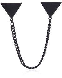 River Island Black Matte Collar Tips - Lyst