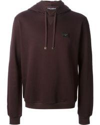 Dolce & Gabbana Purple Hooded Sweatshirt - Lyst