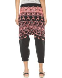 Surf Bazaar - Embroidered Harem Pants - White - Lyst