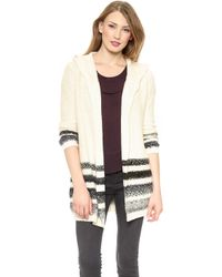 Splendid Ombre Stripe Cardigan  Cream - Lyst