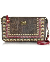 Class Roberto Cavalli Animal Print Small Bag Wshoulder Strap - Lyst