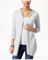 G.H.BASS - Long-sleeve Hooded Cardigan - Lyst