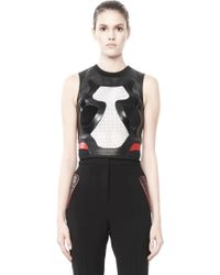 Alexander Wang Leather Sneaker Shell Top - Lyst