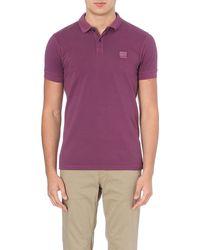 Hugo Boss Pascha Logo Polo Shirt Dark Purple - Lyst