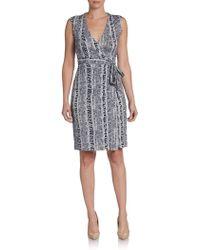 Diane von Furstenberg New Yahzi Short Wrap Dress - Lyst