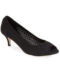 Vaneli 'Ugonia' Perforated Peep Toe Pump black - Lyst