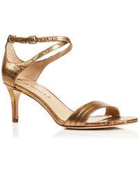 Via Spiga Ankle Strap Sandals - Leesa Mid Heel - Lyst