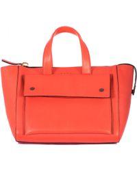 Marni Orange Leather Hand Bag - Lyst