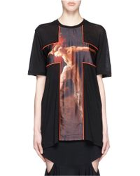 Givenchy | 'fauno' Cross Print Cotton T-shirt | Lyst