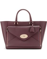Mulberry Willow Leather and Suede Tote - Lyst