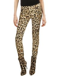 Balmain Leopard-print Moto Pants - Lyst