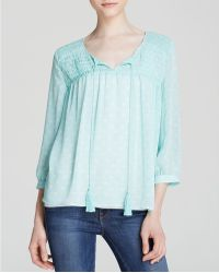 Two By Vince Camuto - Pintuck Peasant Blouse - Bloomingdale's Exclusive - Lyst